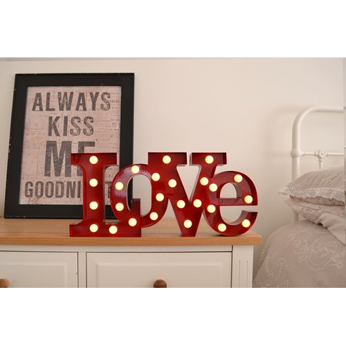 Giggle Beaver Carnival LED Light LOVE - Red