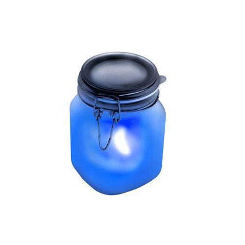 Konservenglas Solar Lampe - Blau