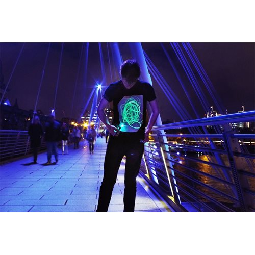 IA Interactive Glow T-Shirt Super Green - Black (XXL)