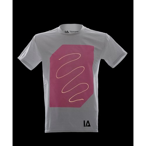 IA Interactief Glow T-shirt Super Peach - Wit (S)