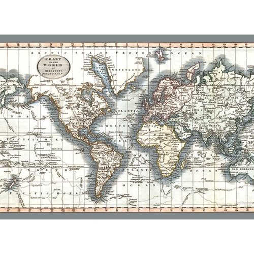 Exclusive Edition Tapijt Chart of the World – Mercator projectie - Wereldkaarten
