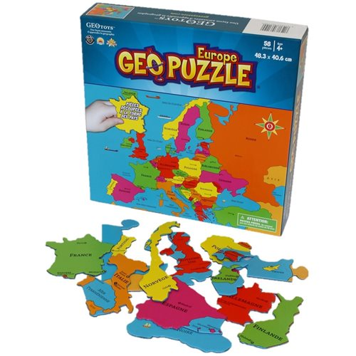 GeoPuzzle Europe 58 pieces (FR)