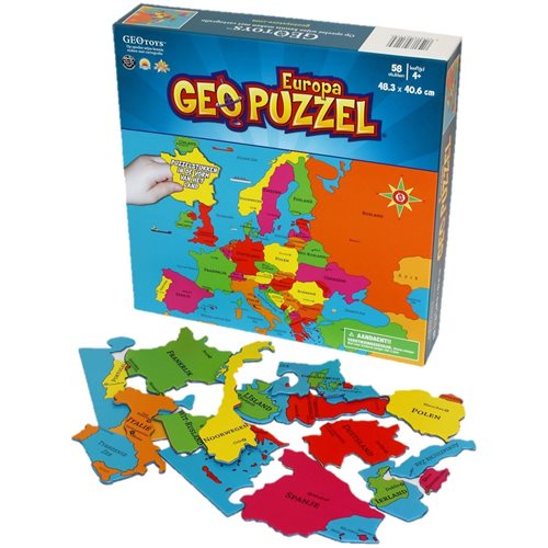 GEOtoys - GeoPuzzle Europe 58 pieces (NL)