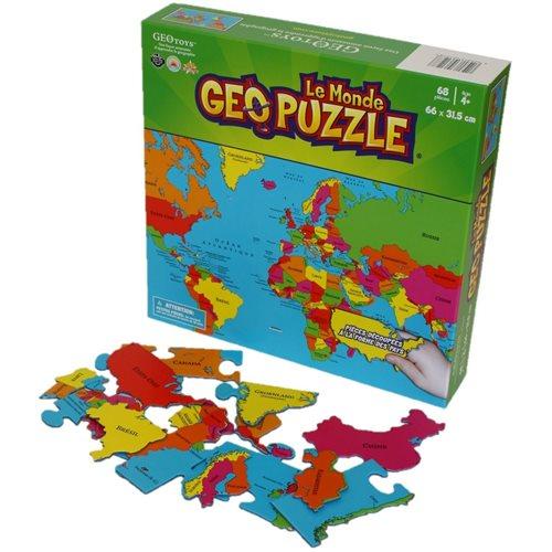 GEOtoys - GeoPuzzle Monde 68 pièces (FR)