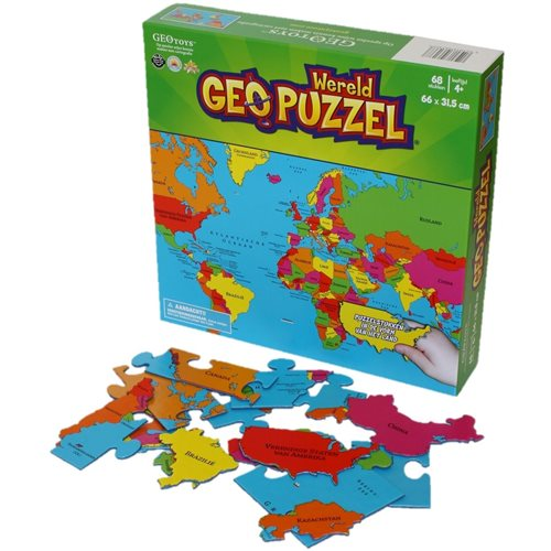 GeoPuzzle Welt 68 Stücke (NL)