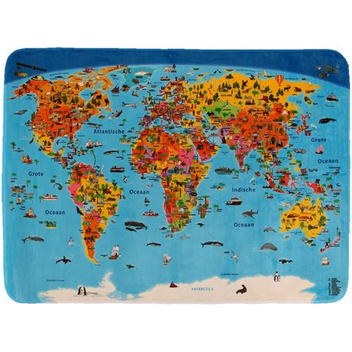 Children's Carpet Worldmap Dutch