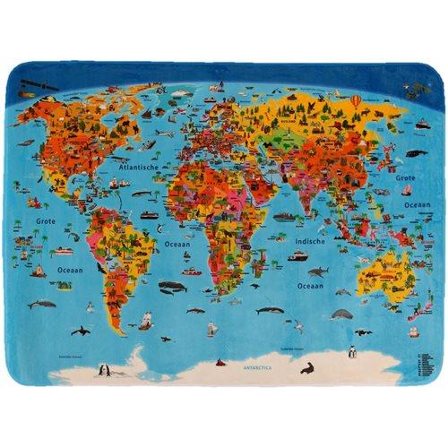 Kindertapijt Wereldkaart Nederlands
