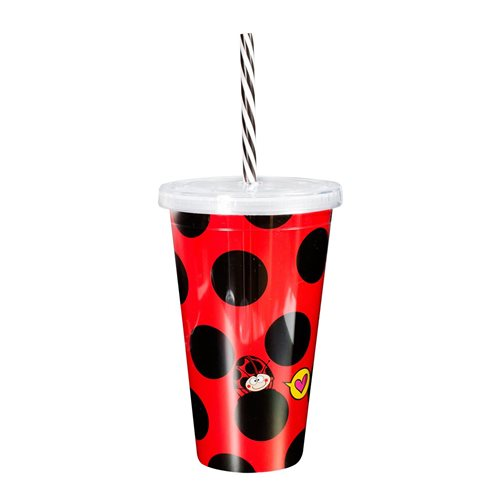 Uatt - Glass with Straw - Ladybug