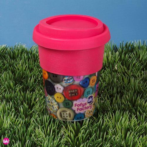 Uatt Tasse mit Deckel - Knöpfe
