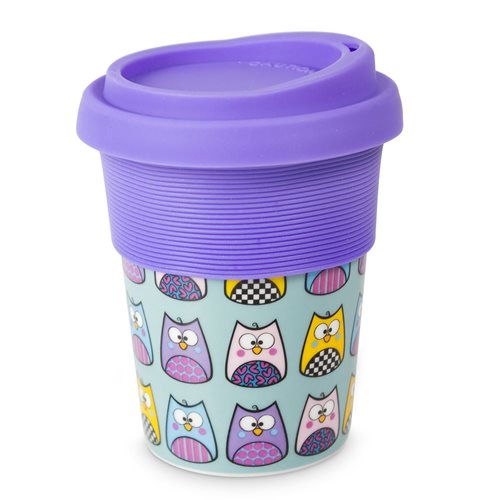 Uatt Cup with Top - Owls