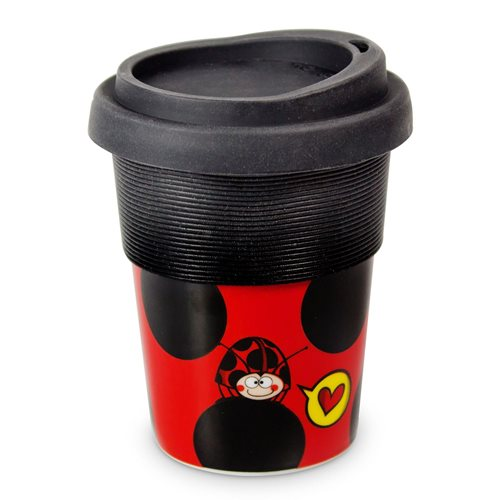 Uatt - Cup with Top - Ladybug