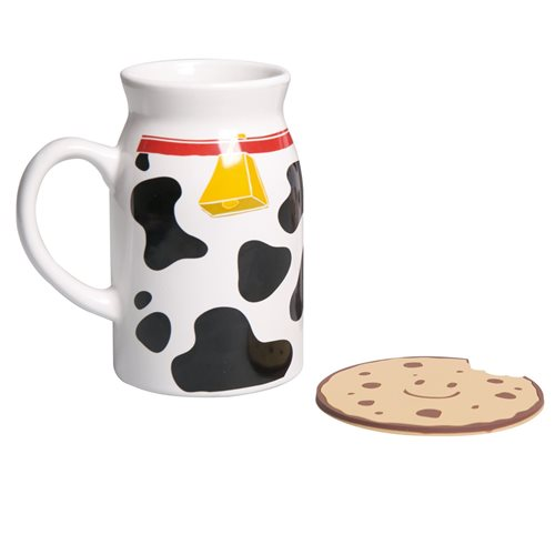 Uatt Mug with a Coaster - Milk and Cookie