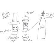 E-my Wein Hüte Flaschen Stopper - Lord Bowler Grün