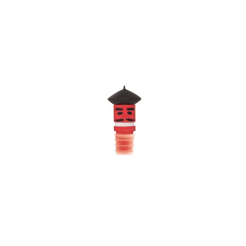 E-my Wine Hats Bottle Stopper - Monsieur Beret Red