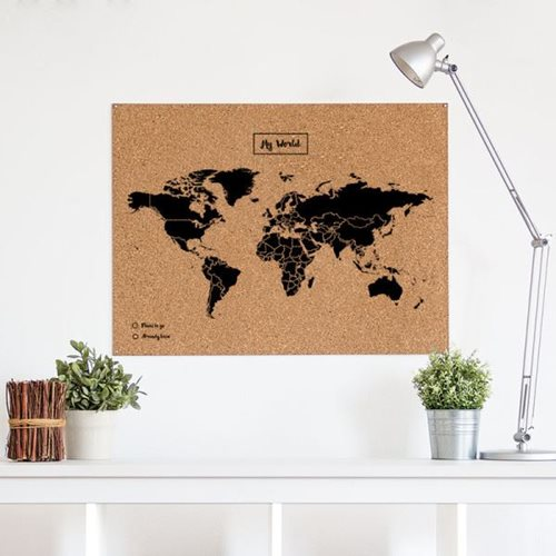 Miss Wood Woody Map XL Schwarz – 90x60 cm