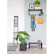 Spinder Design Rex 3 Coat rack with Shelf - Black