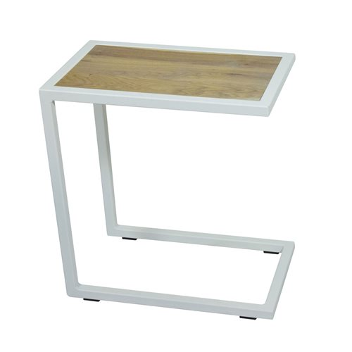 Spinder Design Divani Side Table 30x50x54 - White/Oak table top