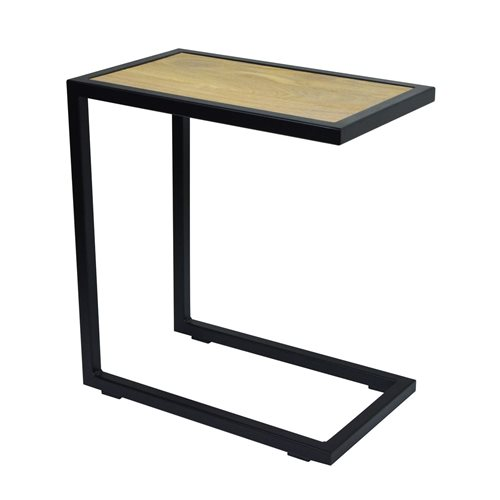 Spinder Design Divani Side Table 30x50x54 - Black/Oak table top