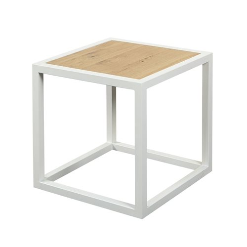 Spinder Design Diva Side Table 40x40x40 - White/Oak table top