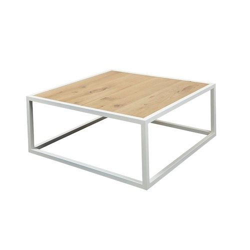 Spinder Design Diva Coffee Table 80x80x35 - White/Oak table top
