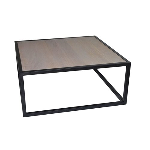 Spinder Design Diva Coffee Table 80x80x35 - Black/Oak table top