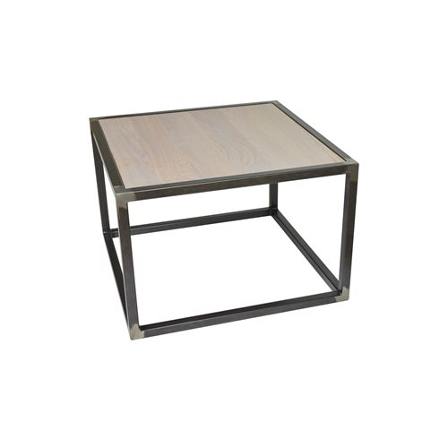 Spinder Design Diva Salontafel 60x60x40 - Blacksmith/Eiken