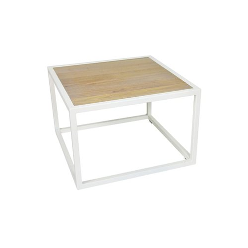 Spinder Design Diva Coffee Table 60x60x40 - White/Oak table top