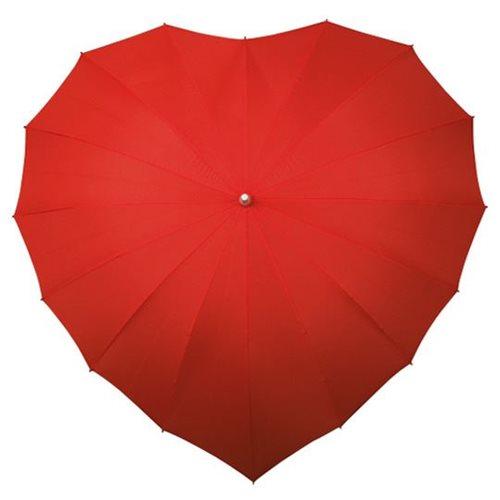 Herz Regenschirm - Rot