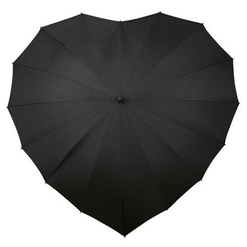 Herz Schirm - Schwarz