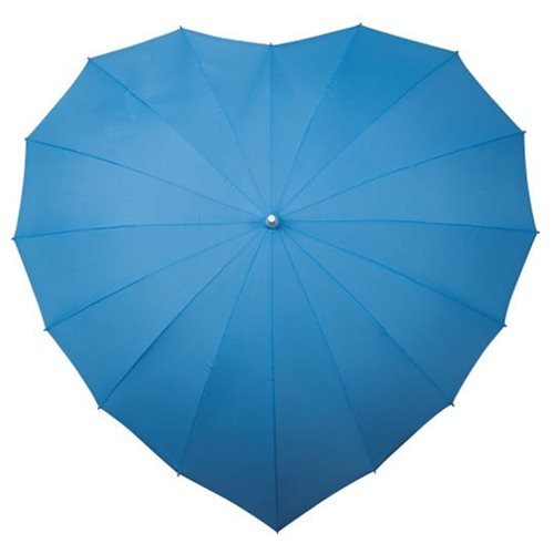 Impliva Heart Umbrella - Light blue