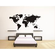 United Entertainment World Map Wall Sticker - Black