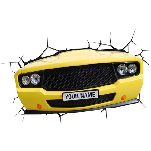 3DlightFX 3D Muscle Car Light (Yellow)