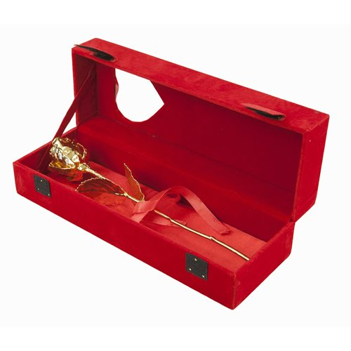 United Entertainment Golden Rose in Red velvet box