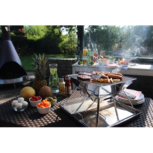 United Entertainment Foldable Stainless Steel BBQ