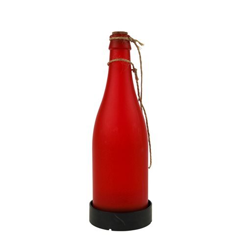 United Entertainment Garden Solar Light Bottle - Red