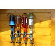United Entertainment Bar Butler 4 bottles Wall mount Dispenser
