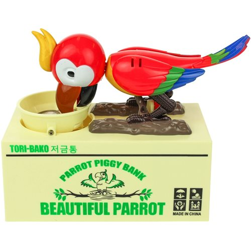United Entertainment Money Box Parrot Piggy Bank