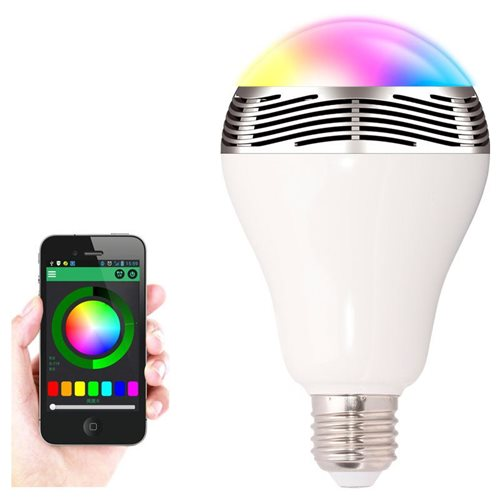 United Entertainment Bluetooth Smart LED Light Bulb with Speaker