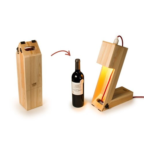 Rackpack Wine Light - Wine box and Table lamp