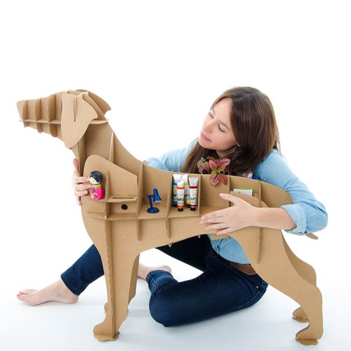 Milimetrado - Labrador Cardboard Dog - Decorative Rack