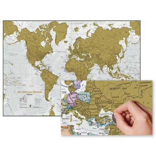 Maps International Scratch the World - World Map - German
