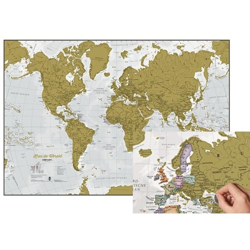 Maps International Scratch the World - World Map - Dutch