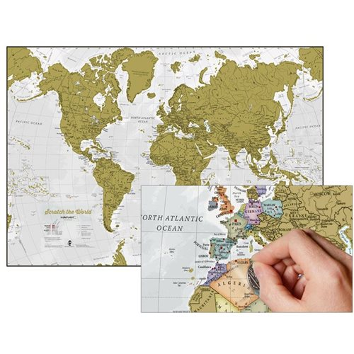Maps International Scratch the World - World Map - English