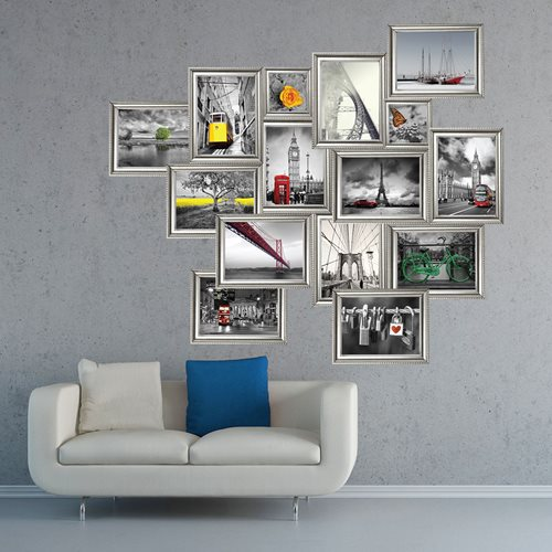 Walplus Home Decoration Sticker - Silver Photo Frame Stickers