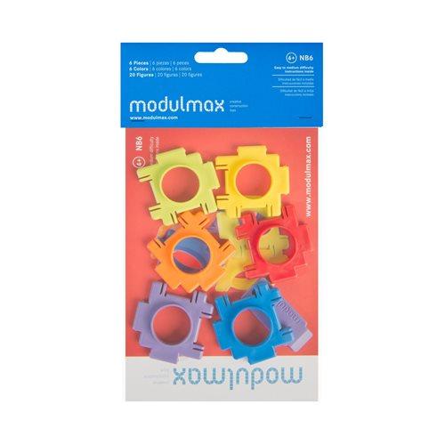 Modulmax Bouwblokken - Zak met 6 stukjes