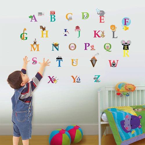 Walplus Kinder Dekoration Wandaufkleber - Tier Alphabet