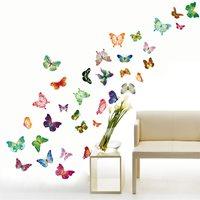 Walplus Home Decoration Sticker - Coloured Butterflies