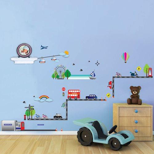 Walplus Kids Decoratie Sticker - Londen Transport