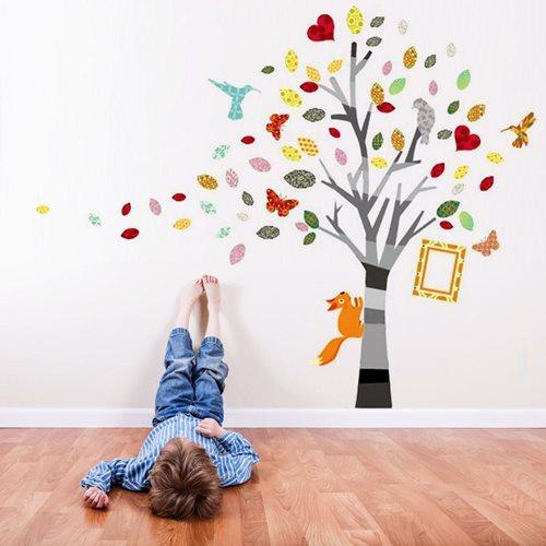 Walplus Home Decoration Sticker - Colourful Photo Tree