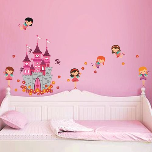 Walplus Kids Decoration Sticker - Princess Castle